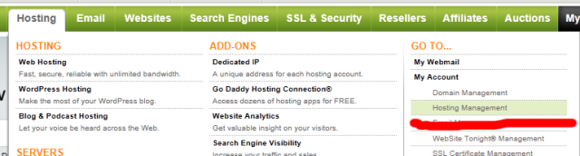 Godaddy Setup, Step 1